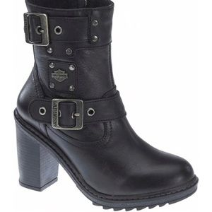 Harley-Davidson Womens Ludwell Black Leather Boots